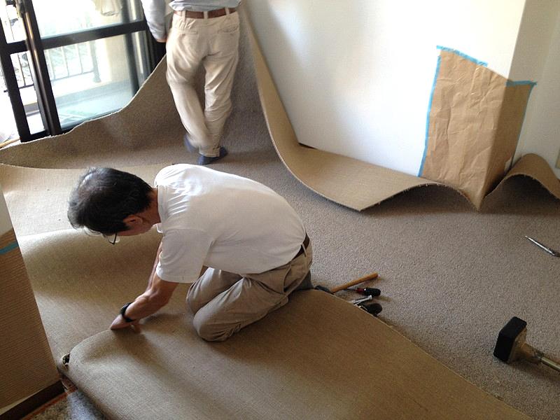 絨毯敷きこみ (2)