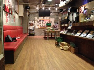 ハンバーガー店の床リフォーム 横須賀市本町